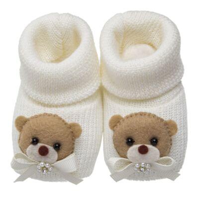 Imagem 1 do produto Sapatinho em tricot Ursinha Marfim - Roana
