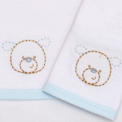 Imagem 2 do produto Kit com 2 fraldas de boca em malha Ursinho - Classic for Baby