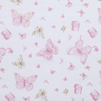 Imagem 5 do produto Ursinha chocalho c/ Manta em suedine Borboletas - Anjos Baby