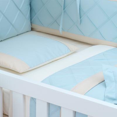 Imagem 1 do produto Jogo de lençol para berço em percal Blue Teddy Bear - Laura Ashley Baby
