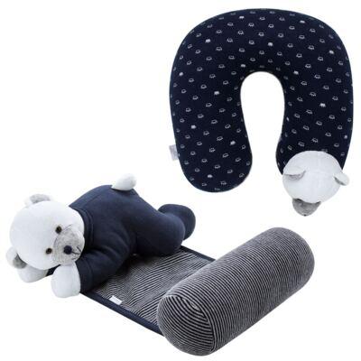 Imagem 1 do produto Kit: Protetor de Pescoço + Segura nenê para bebe Ursinho - Anjos Baby