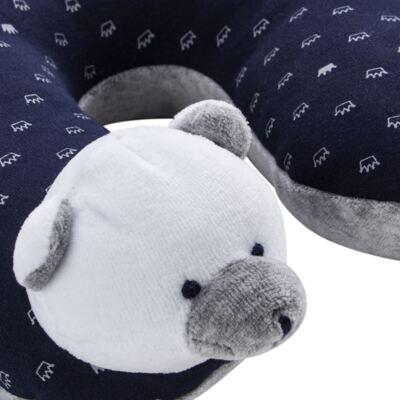 Imagem 3 do produto Kit: Protetor de Pescoço + Segura nenê para bebe Ursinho - Anjos Baby