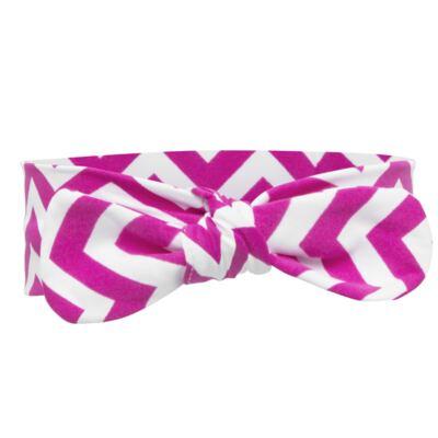 Imagem 4 do produto Legging c/ Faixa de cabelo para bebe em lycra Chevron Pink - Letiti - LTT03 LEGGING FAIXA LUMA PINK-4