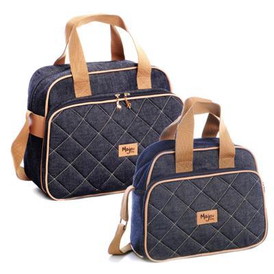 Imagem 1 do produto Bolsa maternidade + Frasqueira térmica Jeans - Majov