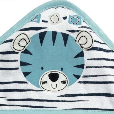 Imagem 2 do produto Toalha com capuz atoalhado Tigrinho - Classic for Baby