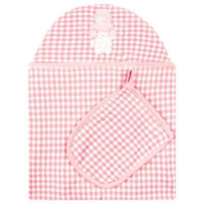 Imagem 1 do produto Toalha com capuz + Luva Poodle - Classic for Baby