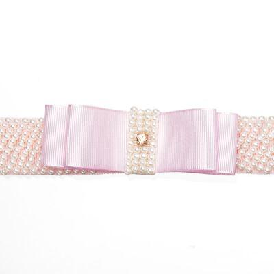 Imagem 2 do produto Faixa Laço & Mini Pérolas Rosa - Roana