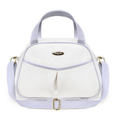 Imagem 3 do produto Kit Bolsa maternidade para bebe + Frasqueira Branco/Azul Unique - Classic for Baby Bags