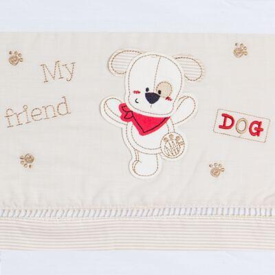 Imagem 2 do produto Jogo de lençol  para carrinho em malha My Friend Dog - Classic for Baby
