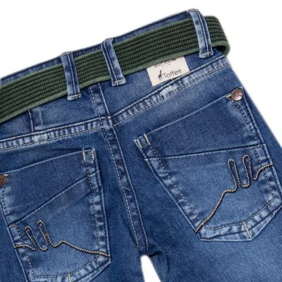 Imagem 4 do produto Calça c/ Cinto em jeans Destroyed - Toffee