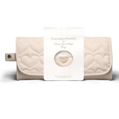 Imagem 1 do produto Trocador Portátil para bebe Corações Matelassê Caqui - Classic for Baby Bags