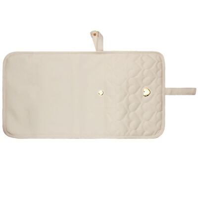 Imagem 3 do produto Trocador Portátil para bebe Corações Matelassê Caqui - Classic for Baby Bags