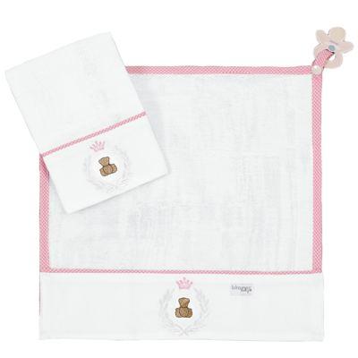 Imagem 1 do produto Kit com 2 fraldinhas de boca para bebe Pink Theodore - Biramar Baby