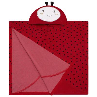 Imagem 2 do produto Toalha de vestir com capuz Ladybug - Classic for Baby