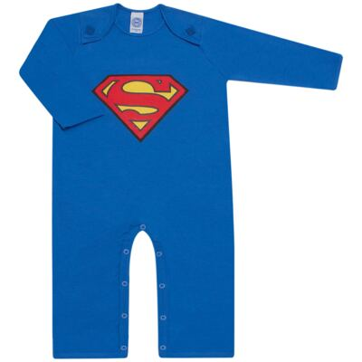 Imagem 2 do produto Fantasia Superman: Macacão longo com Capa em malha Stica Stica - Get Baby - 211063 MACACAO TODDLER LONGO M/L-1