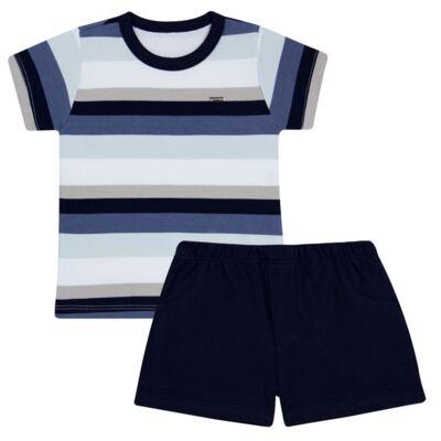 Imagem 1 do produto Camiseta com Shorts em algodão egípcio Ailu - Grow Up - 05010090.0003 CONJUNTO FLY AZUL-2