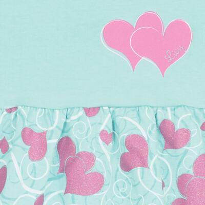 Imagem 2 do produto Vestido para bebê Cute Hearts Menta - Livy - LV4901.VD VESTIDO HEART COTTON AQUATIC-M
