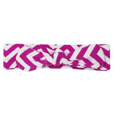 Imagem 3 do produto Legging c/ Faixa de cabelo para bebe em lycra Chevron Pink - Letiti - LTT03 LEGGING FAIXA LUMA PINK-3