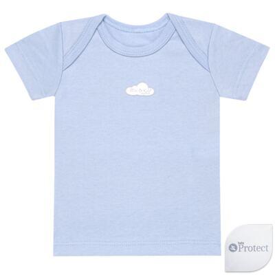 Imagem 1 do produto Camiseta manga curta em suedine Baby Protect Azul - Mini & Kids - CMTC1735 CAMISETA TRANSP. MC SUEDINE AZUL-M