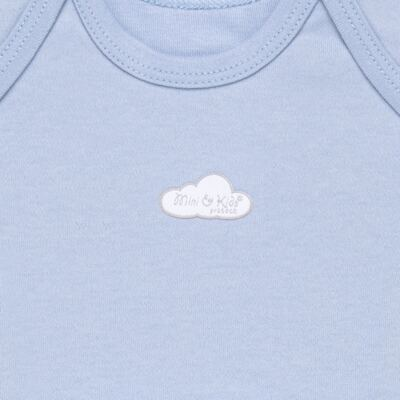 Imagem 2 do produto Camiseta manga curta em suedine Baby Protect Azul - Mini & Kids - CMTC1735 CAMISETA TRANSP. MC SUEDINE AZUL-M