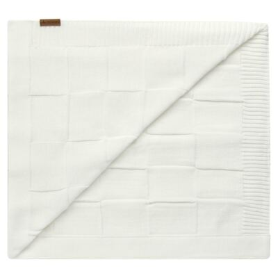 Imagem 2 do produto Manta para bebe em tricot Mosaic Branca - Mini Sailor