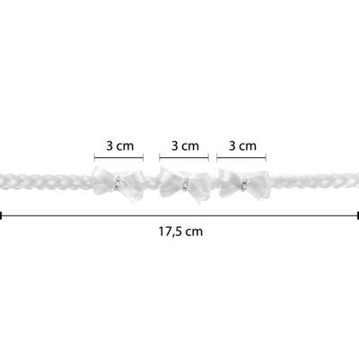 Imagem 3 do produto Faixa de cabelo trançada Lacinhos & Strass Branco - Roana