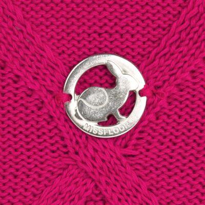 Imagem 3 do produto Casaco com capuz em tricot trançado Pink - Missfloor - 76TT0001.376 SWEATER COM TRANÇAS - TRICOT-1