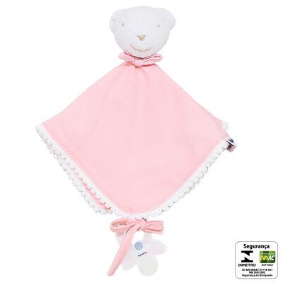 Imagem 2 do produto Naninha para bebe em malha Ursinha Rosa - Biramar Baby