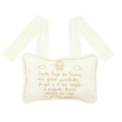 Imagem 2 do produto Almofada Santo Anjo em fustão Marfim - Classic for Baby