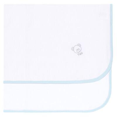 Imagem 1 do produto Cueiro para bebe em flanela Ursinho Azul - Petit