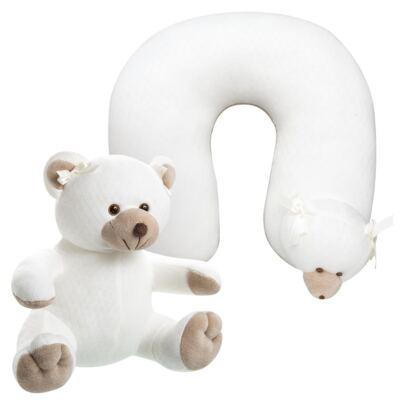 Imagem 1 do produto Kit: Bichinho Chocalho + Protetor de Pescoço para bebe Ursinha - Anjos Baby
