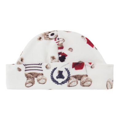 Imagem 4 do produto Kit: Naninha Ursinho + Touca + Par de Luvas para bebe em suedine Baby Bear - Coquelicot