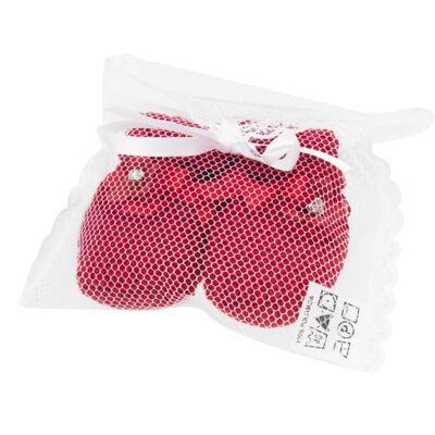 Imagem 2 do produto Botinha em tricot Laço & Flor Vermelho - Roana
