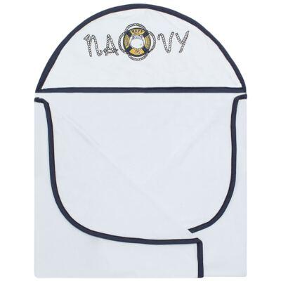 Imagem 2 do produto Toalha Max com capuz atoalhado Hippo Sailor - Classic for Baby