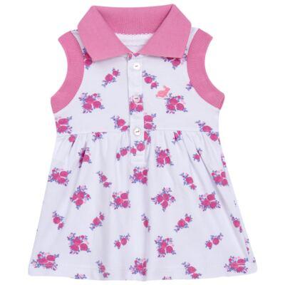 Imagem 2 do produto Vestido Polo com Calcinha para bebe em piquet Mimme - Missfloor - 18BC0001.505 BATA POLO REGATA C/ CALCINHA - PIQUET-2