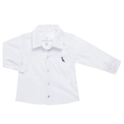 Imagem 1 do produto Camisa para bebe em chambray Branca - Reserva Mini - RM23161 CAMISA BB CHAMBRAY COLOR-G