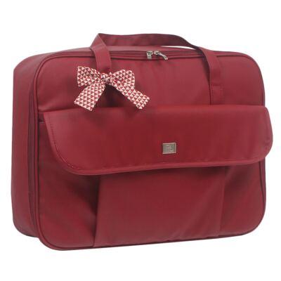 Imagem 2 do produto Mala maternidade + Bolsa + Frasqueira térmica + Porta Mamadeira Laço Vermelho - Hey Baby