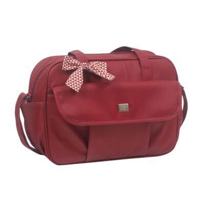 Imagem 3 do produto Mala maternidade + Bolsa + Frasqueira térmica + Porta Mamadeira Laço Vermelho - Hey Baby