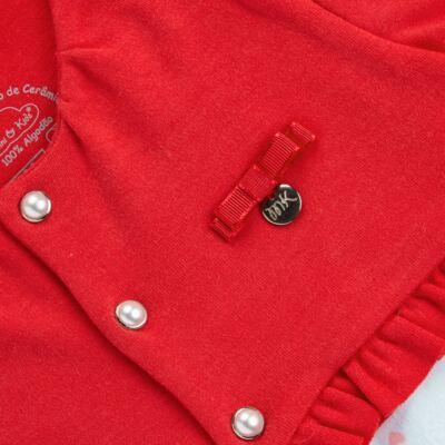 Imagem 2 do produto Macacão Casaqueto para bebe em algodão egípcio c/ jato de cerâmica e filtro solar fps 50 Sweet Love - Mini & Kids