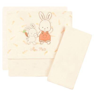 Imagem 1 do produto Jogo de lençol para carrinho em malha Mon Petit Rabbit - Classic for Baby