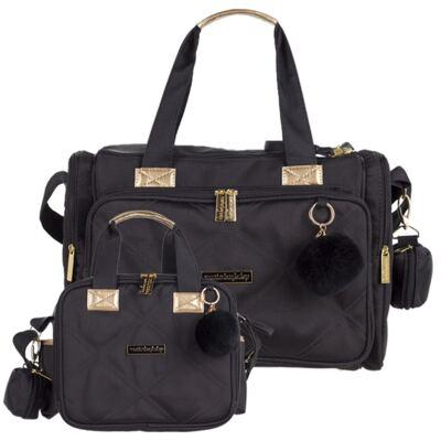 Imagem 1 do produto Bolsa para bebe Anne +  Bolsa térmica organizadora Soho Black - Masterbag