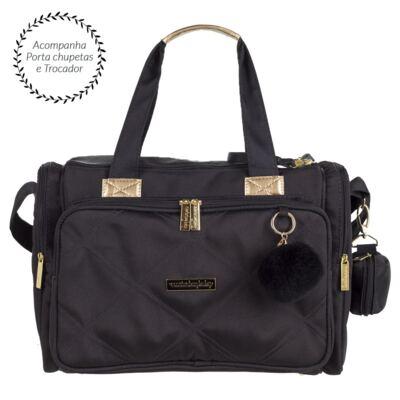 Imagem 2 do produto Bolsa para bebe Anne +  Bolsa térmica organizadora Soho Black - Masterbag