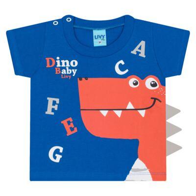 Imagem 2 do produto Camiseta c/ Shorts em tactel Blue Dino - Livy