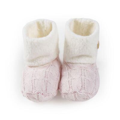 Imagem 1 do produto Botinha para bebe pelúcia & tricot Rosa - Petit