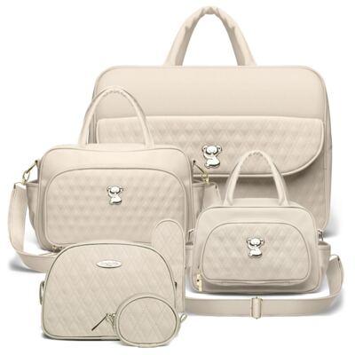 Imagem 1 do produto Kit Mala Maternidade para bebe + Bolsa Veneza + Frasqueira Térmica Milão + Kit Acessórios Golden Koala Caqui - Classic for Baby Bags