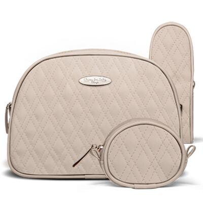 Imagem 5 do produto Kit Mala Maternidade para bebe + Bolsa Veneza + Frasqueira Térmica Milão + Kit Acessórios Golden Koala Caqui - Classic for Baby Bags
