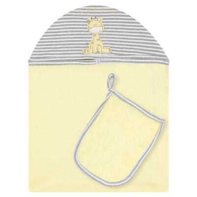 Imagem 1 do produto Toalha com capuz + Luva para bebe Nature Giraffe & Friends - Classic for Baby