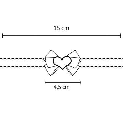 Imagem 3 do produto Faixa de cabelo trançada Coração Strass Rosa - Roana