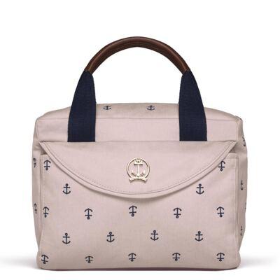 Imagem 1 do produto Bolsa Térmica para bebe Queenstown em sarja Navy Rosa -  Classic for Baby Bags
