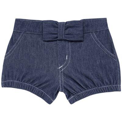 Imagem 1 do produto Short c/ Laço para bebe em fleece Basic Denim - Mini & Kids - SLB1632 SHORTS C/ LAÇO FLEECE FAZENDA-VERDE-M